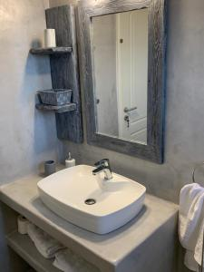 A bathroom at Galini Apartments