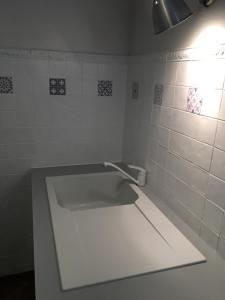 Salle de bains dans l'établissement Gites - Domaine de Geffosse