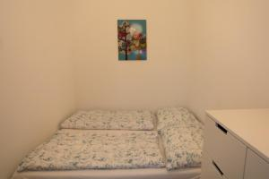 A bed or beds in a room at Moderne Altbauwohnung
