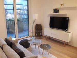 A television and/or entertainment center at Cityapartments Vienna