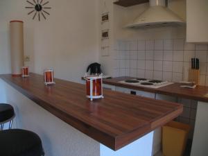 A kitchen or kitchenette at Appartement Le Saint Gimer - Les Balcons de la Cité