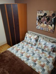 Krevet ili kreveti u jedinici u okviru objekta Luxury Apartments Belgrade