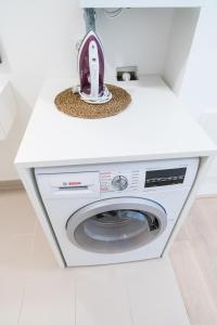 A kitchen or kitchenette at Luxus Maisonette Liechtenstein by welcome2vienna