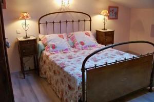 Un ou plusieurs lits dans un hébergement de l'établissement Gîte Le Galta