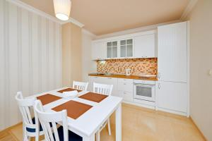 A kitchen or kitchenette at Penelopa Palace Apart Hotel & SPA