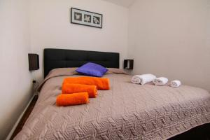 A bed or beds in a room at Villetta sul mare in residence