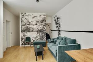 A seating area at Suite Beata