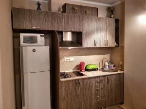 Кухня или мини-кухня в Orbi Apartment