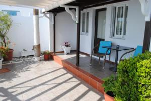 A porch or other outdoor area at Studios Loukia