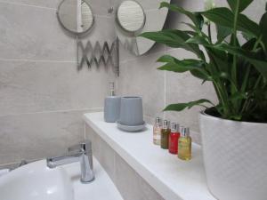 A bathroom at RiverGem