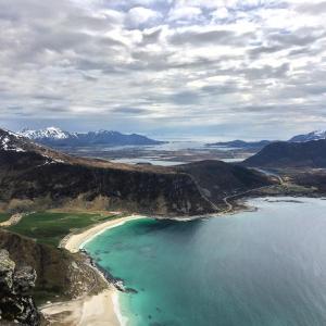 A bird's-eye view of Lofoten Rorbuopplevelser