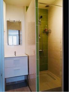 A bathroom at Le Petit Marceau entre Beauval et les chateaux