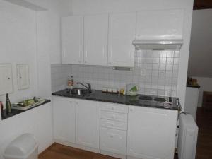 Kuchyň nebo kuchyňský kout v ubytování ABC apartments