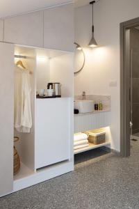 Ett kök eller pentry på Hotel Rezi