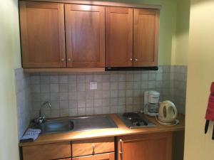 O bucătărie sau chicinetă la Jason Hotel Apartments