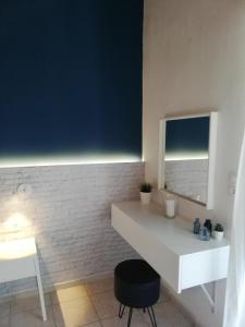 Ένα μπάνιο στο Rigas Rooms