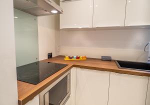 A kitchen or kitchenette at Appartement centre de Cannes