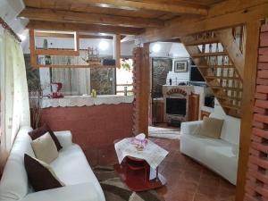 Posezení v ubytování Cabana rustica
