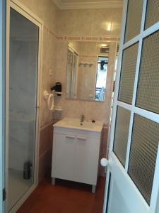 A bathroom at Casa de las Lanzas
