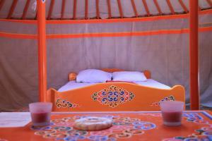 Un ou plusieurs lits dans un hébergement de l'établissement Domaine Du Lieu Dieu