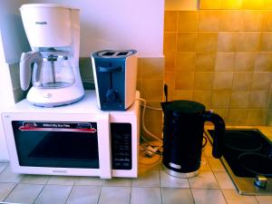 Virtuve vai virtuves aprīkojums naktsmītnē AveSol Apartment