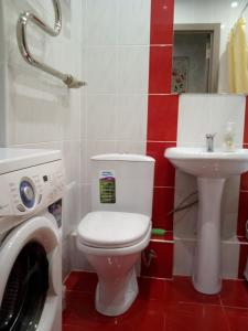 Ванная комната в Апартаменты комфорт