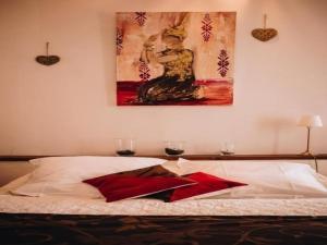 Łóżko lub łóżka w pokoju w obiekcie House La bergerie 1