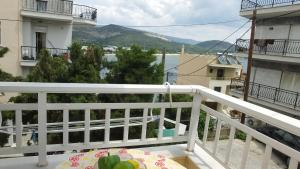 A balcony or terrace at Friend's Apartment