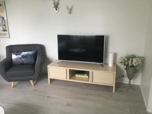A television and/or entertainment center at Smárinn Apartment
