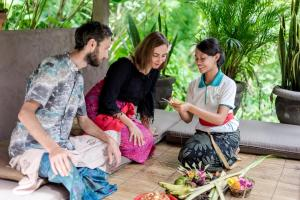 A family staying at The Desa Ubud