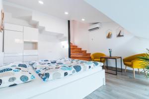 Postelja oz. postelje v sobi nastanitve Apartments Vacation Station