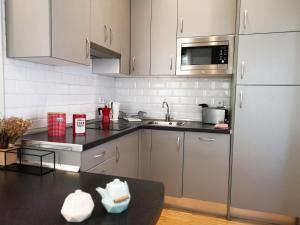 Küche/Küchenzeile in der Unterkunft Apartamentos Moratín Las Letras