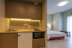 Een keuken of kitchenette bij Theoxenia Hotel Apartments