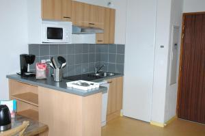 A kitchen or kitchenette at Résidence Les Adrets de Peyragudes