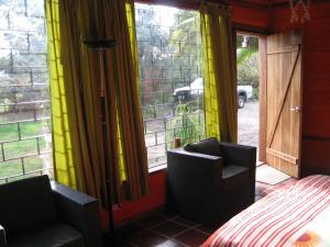 Zona de estar de Arie's Cabin
