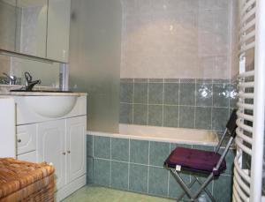 Salle de bains dans l'établissement Mon Gite d'Auvergne