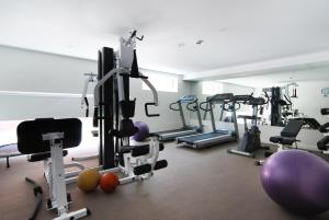 The fitness center and/or fitness facilities at Adara Richmond