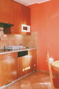 Kuhinja ili čajna kuhinja u objektu Terme Olimia - Aparthotel Rosa