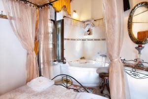 A bathroom at Archontiko Evgenia Studios