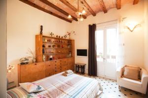 Een bed of bedden in een kamer bij Paseo de Gracia Apartments PdG