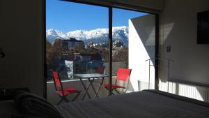 A balcony or terrace at Heidelberg Haus Apart Hotel