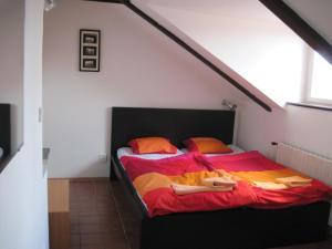 Кровать или кровати в номере Apartmány Železná