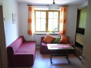 Ein Sitzbereich in der Unterkunft Zwettltalblick