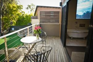 A balcony or terrace at Adelphi Boutique Apartments