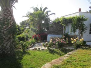 A garden outside Kavos Boutique Hotel Naxos