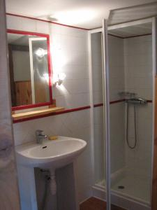 A bathroom at Studio Illamane