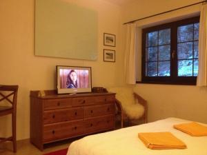 Televízia a/alebo spoločenská miestnosť v ubytovaní Vila Helena Hrabovo - Studio Helena 5