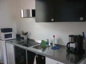 A kitchen or kitchenette at Apartment het Hazegras