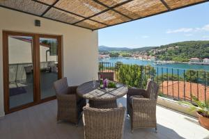 A balcony or terrace at Deluxe Jelsa