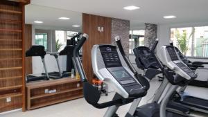 The fitness center and/or fitness facilities at Apartamento Clube - Porto das Dunas